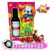 Caja decorada con Vino