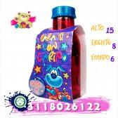 Bottle con bombones y mensaje