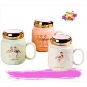 Mugs Flamingo Tapa Espejo