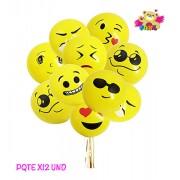 Globo Latex Emoji x 12 UND
