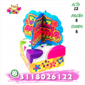 Caja con Chocolates y mensajes